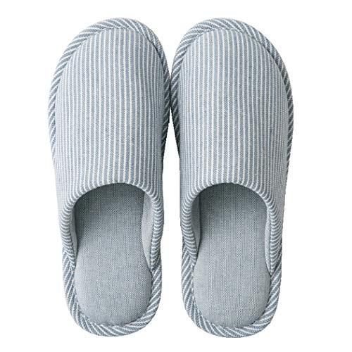 Zapatillas de Estar por casa para Mujer Invierno Pantuflas con Suela Antideslizante Cálidas y Cómodas Gr.34-45 (Azul, Numeric_38)