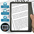 MagniPros 3X Large Ultra Bright LED Page Magnifier with 12 Anti-Glare Dimmable LEDs (Provide More Evenly Lit Viewing Area & Relieve Eye Strain)-Ideal for Reading Small Prints & Low Vision & Aging Eyes