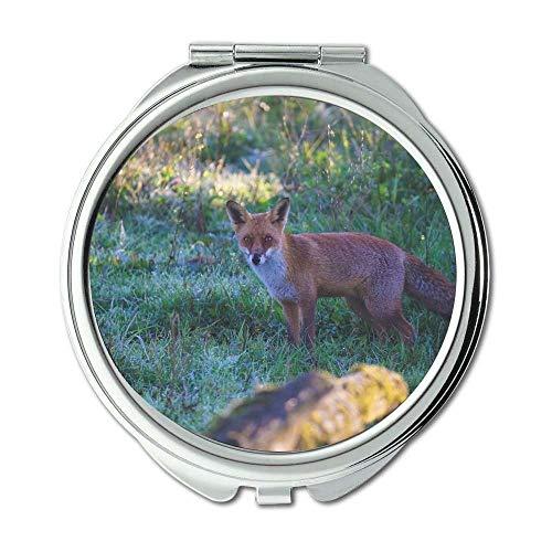 Yanteng Spiegel, Compact Spiegel, Tier Tier Fotografie Fuchs, Taschenspiegel, Tragbare Spiegel