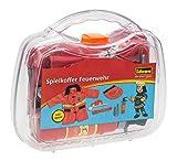 Idena 30121 Verkleidungsset im Spielkoffer, Feuerwehr mit Jacke und viel Zubehör, ca. 30 x 27 x 8 cm