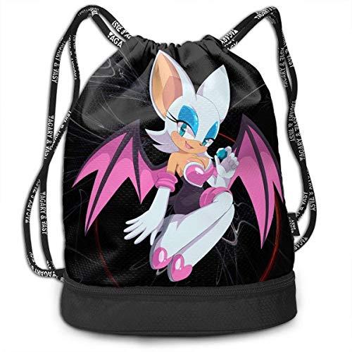 Sonic The Hedgehog Rouge The Fledermaus Sport-Bundle Tasche, robuster Kordelzug, Unisex, Büchertasche