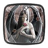 Anne Stokes Angel Rose - Pomo cuadrado de cristal para armario (0,4 piezas)