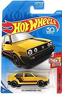 Hot Wheels 2018 50th Anniversary Then and Now Volkswagen Golf MK2 171/365, Yellow
