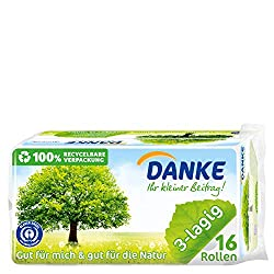 Das grüne Danke Toilettenpapier