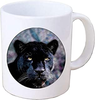 Black Panther Coffee Mug - Mug - Animal Nature Picture Photo leopard Glass Gem Cabochon Mug Coffee Mug,PU275