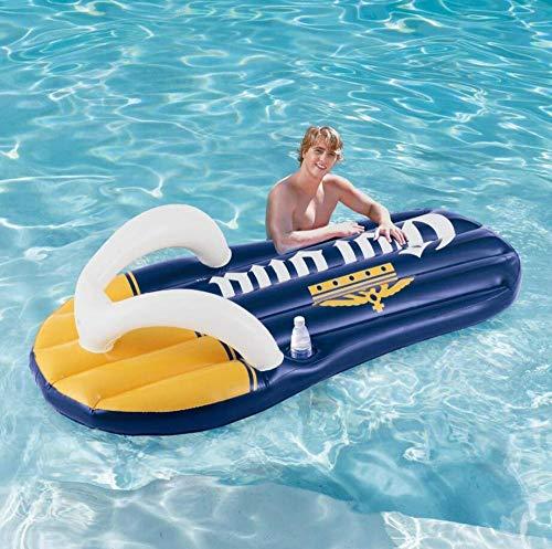 MSFX Chanclas Inflable Cama Flotante Creativo Gracioso Anillo De Natación Fila Flotante Portátil Niños Adultos Piscina De Flotación Resistente Al Desgaste Tapete De Playa Juguete Flotante