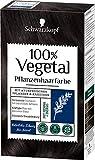 SCHWARZKOPF 100% VEGETAL Coloration Natürliches Schwarz Stufe 3, 3er Pack (3 x 80 ml)