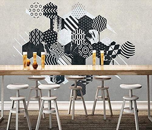 XHXI Schwarze geometrische Linien Vlies Tapete 3D Tapete Wanddekoration Wandbilder Wohnzimmer fototapete 3d Tapete effekt Vlies wandbild Schlafzimmer-150cm×105cm