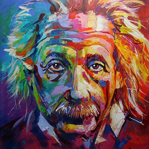 WSNDGWS Modern Wall Art World Celebrity Picture Color psicodélico decoración de la Pared Pintura al óleo