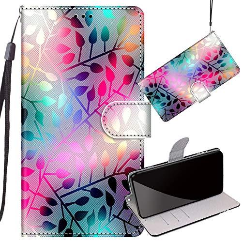 Yiizy Handyhüllen für Redmi 9 Power/Redmi Note 9 (4G) Ledertasche, Blätter Flip Hülle Stylish mit Standfunktion Magnetisch PU Tasche Schutzhülle passt für Redmi 9 Power/Redmi Note 9 (4G) Cover