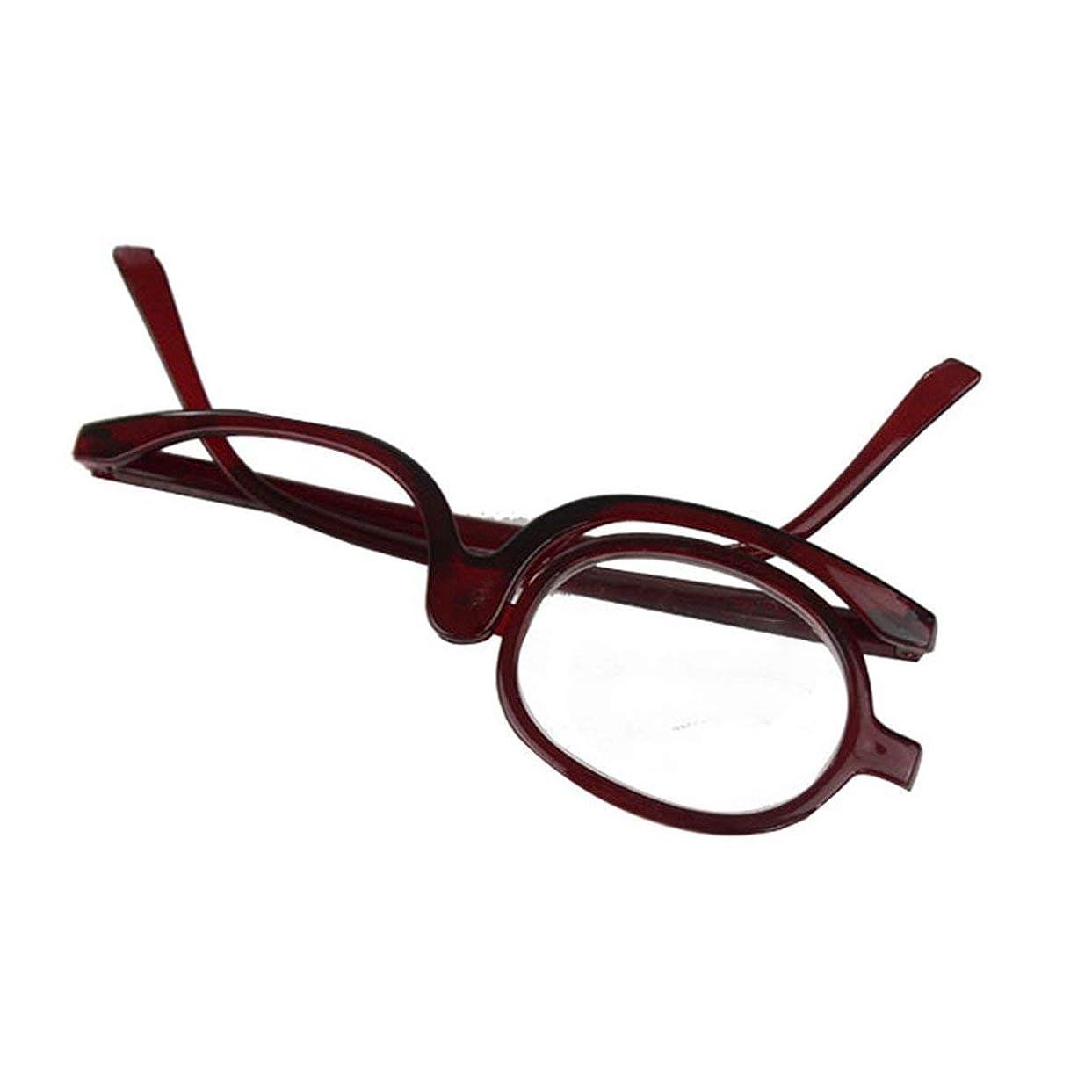 まだら応じる提案する創造的な回転折りたたみ老眼鏡女性の古い化粧眼鏡老眼鏡200度-ティーフレーム