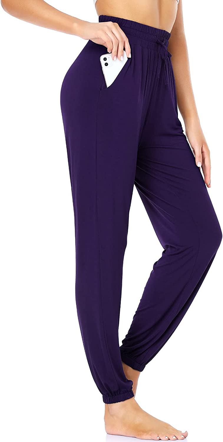 ROCHVIE Women's Yoga Pants with Athle High Super beauty product restock quality top! Jogger Waisted favorite Pocket