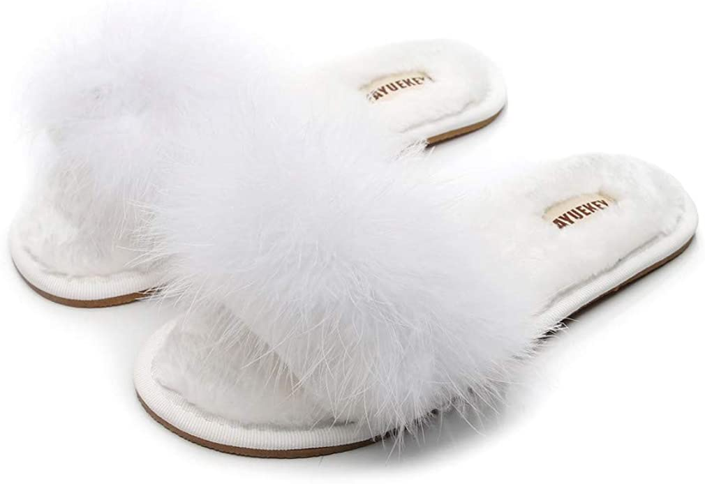 FAYUEKEY Real Fur Slippers for Autumn Women Summer Fluffy Max 69% OFF Soldering Furry