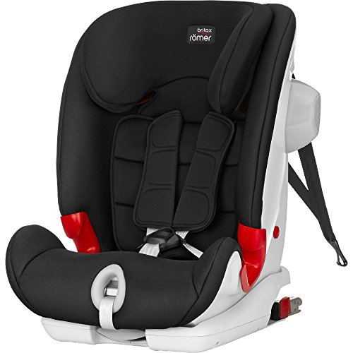 Britax Römer Kindersitz 9 Monate - 12 Jahre I 9 - 36 kg I ADVANSAFIX III SICT Autositz Gruppe 1/2/3 I Cosmos Black