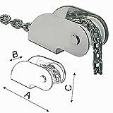 Osculati Edelstahl Bugrolle - 270x54x80mm - für Anker bis 10kg