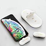 Fingerpow Magnetic Charger, 5000mah Power Bank Charging Station with 3PCS 1100mah Portable Charging Packs, Magnetic USB Cable and 3 Connectors