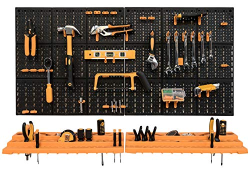 Garage Tool Rack/Organiser - Wall Mounted with 50 Hooks