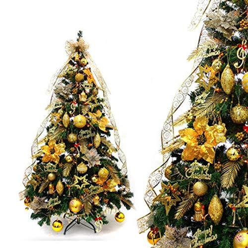 YOGANHJAT Árbol de Navidad Artificial Material PVC Natural Blanco nevado Soporte Metálico Árboles Incl. Soporte para árbol de Navidad,Verde,120cm/3.9ft