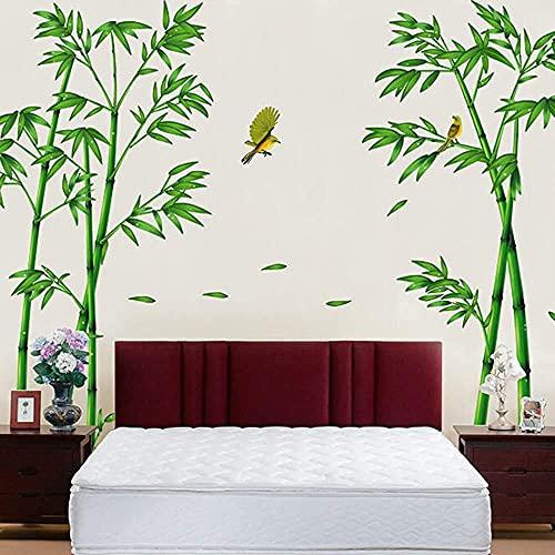 Etiqueta De La Pared De Las Profundidades Del Bosque De Bambú Verde Extraíble, Decoración Del Hogar Del Árbol De Bricolaje De Estilo Chino Creativo, Calcomanías Para La Decoración De La Sala De Estar