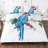 CCBAO 3D Animal Print Apartamento Hotel Hogar Textil Máquina Suministros Funda Nórdica Lavable Funda De Almohada De 3 Piezas 228x228cm(WxH) E