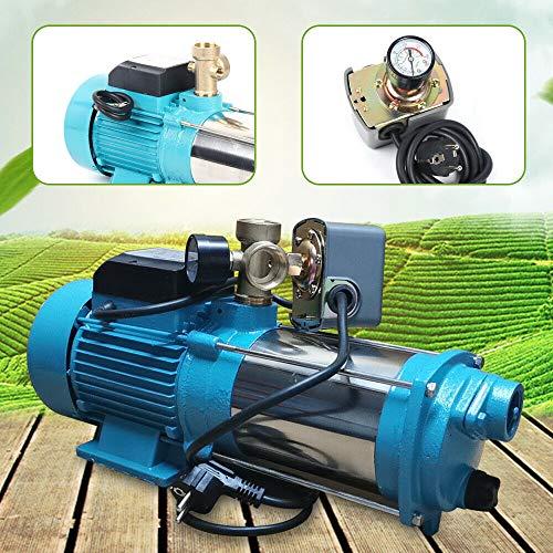 Generic 1300W Kreiselpumpe Hauswasserwerk Gartenpumpe Druckschalter mit Manometer 6000L/h 9,8Bar