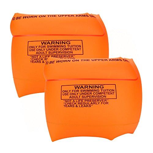 Yowablo 2 Stück PVC Männer Frauen Erwachsene Kinder Sicherheitstraining Aufblasbares Schwimmbad Schwimmen (2Stck,Orange)
