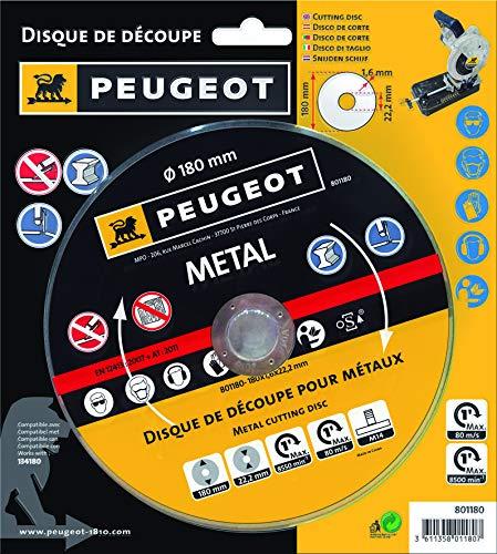 Peugeot EnergyCut Metalen slijpschijf voor metalen kettingzaag, 180 MC, 1.280 W, 18 cm