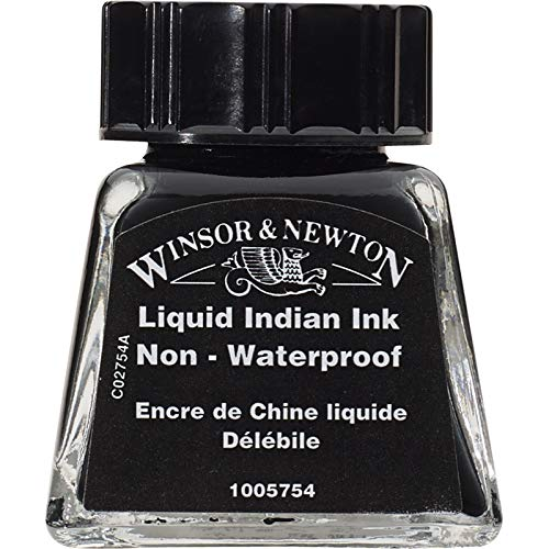 Winsor & Newton Botella de tinta de dibujo, Tinta china líquida, 14-ml Bottle, 1