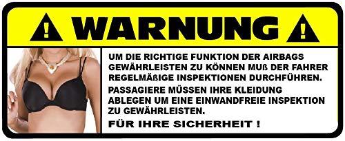 Fun Sticker lustig fürs Auto Jdm Aufkleber Airbag Warnung Funaufkleber Spruch Tuning Autoaufkleber
