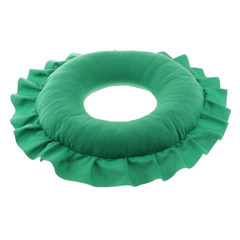 アプライアンス影響する赤CUTICATE 全4色 洗えるピロー フェイスピロー 顔枕 マッサージベッド 美容院 ソフト 軽量 快適 - 緑