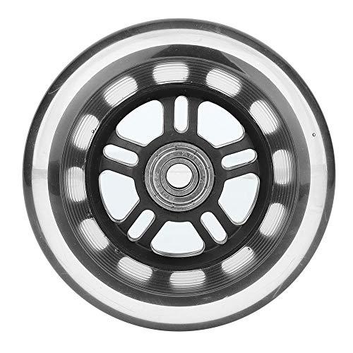 Jectse Ruedas de rodamiento con rodamiento 608ZZ 0.3X4 X0.9 Pulgadas ABEC-7 Cojinete de Bolas de PU Rueda de Repuesto Rueda Herramienta de Repuesto para carros pequeños, Puertas, herrajes