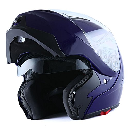 1Storm Motorcycle Street Bike Modular/Flip up Dual Visor/Sun Shield Full Face Helmet (GlossyPink, XX-Large)