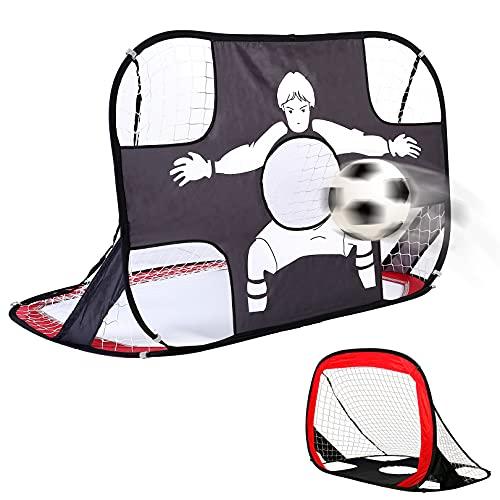 baymety Portería de fútbol para jardín infantil, plegable y portátil, 2 en...
