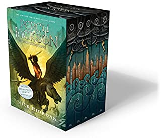 Percy Jackson and the Olympians 5 Book Paperback Boxed Set (new covers w/poster) (Percy..