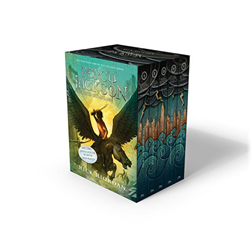 Percy Jackson and the Olympians 5 Book Paperback Boxed Set...