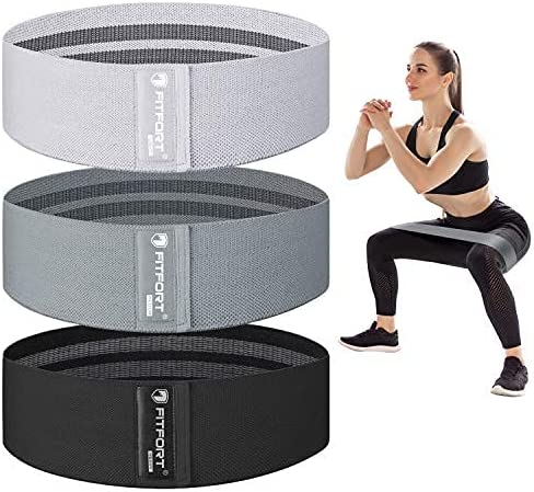 Resistance Bands for Legs and Butt Exercise Bands - Non Slip Elastic Booty Bands, 3 Levels Workout Bands Women Sports...
