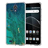 for AT&T AXIA QS5509A Marble Texture Case, BAYKE Slim Flexible TPU Bumper Cushion Protective Case Back Cover for AT&T AXIA QS5509A
