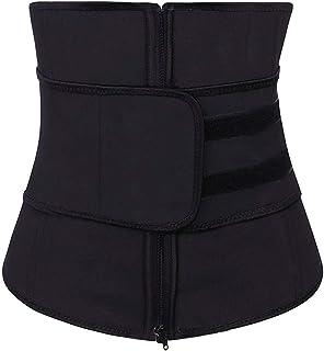 SlimmKISS Women Latex Waist Training Cincher Underbust Corset Body Shaper Waist Trainer Black