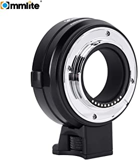 Anself Commlite cm-EF-FX Electronic Camera Lens Mount Adapter Ring Support is Image Stabilization EXIF Signal Transmission AF Auto Focus for Canon EF/EF-S Lens to Fujifilm FX Mirrorless Camera