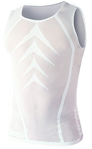 BIOTEX Powerflex Summerlight, Canotta Uomo, 01 Bianco, I (XS/M)