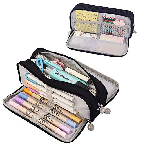 Coolzon Grote Potlood Case voor meisjes jongens, grote capaciteit potlood gevallen met 3 compartimenten pen tas Pouch…