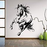Tianpengyuanshuai Arte Hermosa Etiqueta de la Pared decoración de Caballos Cartel de Animales Tribales Arte de Vinilo extraíble Etiqueta Mural Moderna -42x54cm