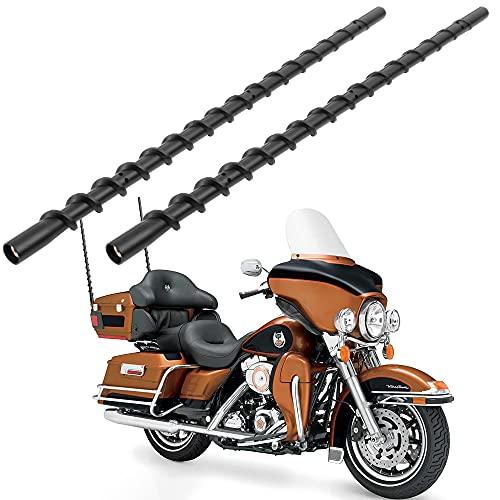 VOFONO 2PCS 13 inch Spiral Antenna for 1989-2021 Harley Davidson Touring Electra Road Street Glide Trike Ultra Classic CVO