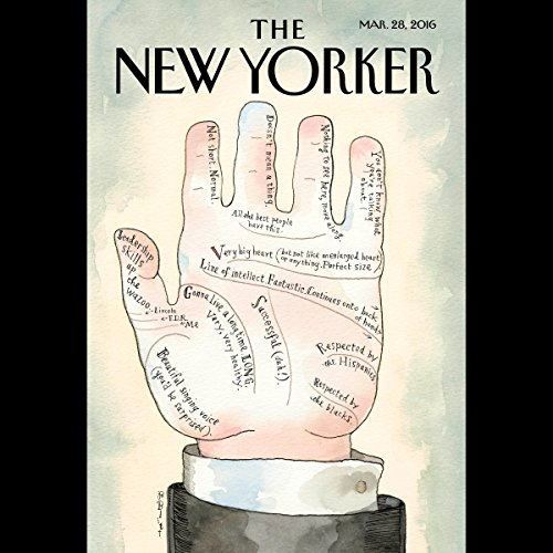 The New Yorker, March 28th 2016 (Siddhartha Mukherjee, Andrew O'Hagan, Jeffrey Toobin) cover art