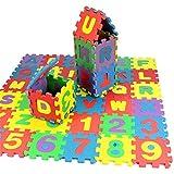 36 piezas de 12 x 12 cm/pieza letras del alfabeto rompecabezas de espuma EVA, números matemáticos, juguetes educativos, baldosas de piso, manta de camping para niños bebé Palying IQ cerebro Teaser