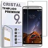 REY Protector de Pantalla para ZTE AXON 7, Cristal Vidrio Templado Premium