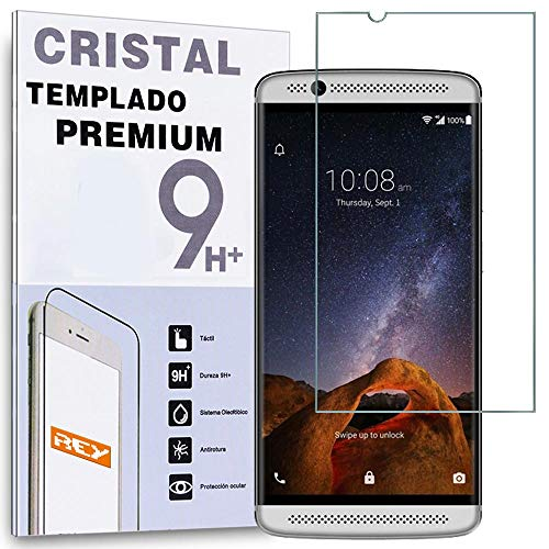 REY Protector de Pantalla para ZTE AXON 7 Mini, Cristal Vidrio Templado Premium