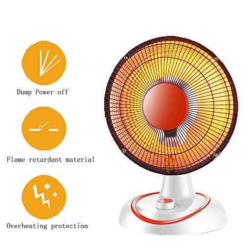 CAGYMJ Keramische ventilatorkachel met thermostaat, oververhittingsbeveiliging, 350 W/750 W, draagbaar elektrisch 3 modi, klein, huisverwarming voor kantoor, huis of badkamer