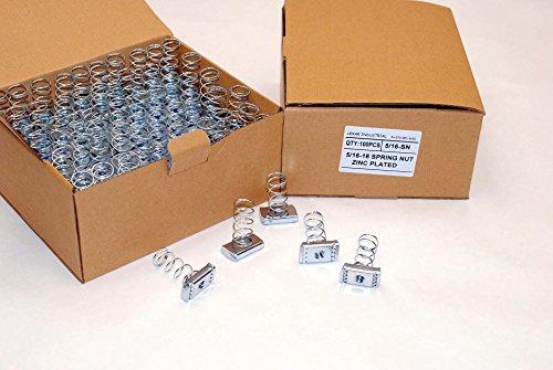(100) Strut Channel Nuts 5/16-18 Standard Spring Zinc Plated Unistrut B-Line Nut