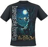 Iron Maiden Fear of The Dark Hombre Camiseta Negro 3XL, 100% algodón, Regular